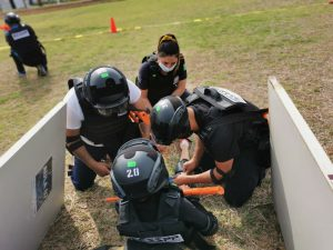 Fortalece IEESSPP instrucción en medicina táctica de emergencia